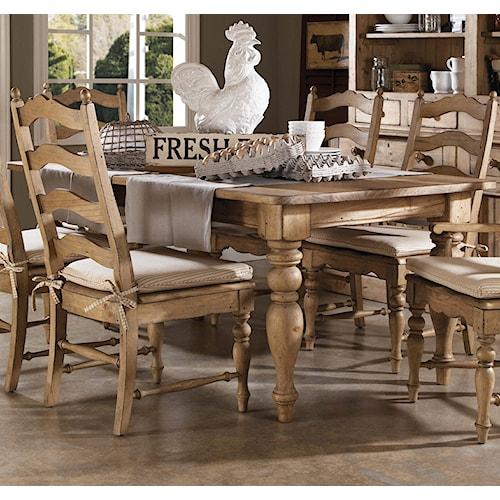 Kincaid Furniture Homecoming Farmhouse Leg Table with Four Drawers