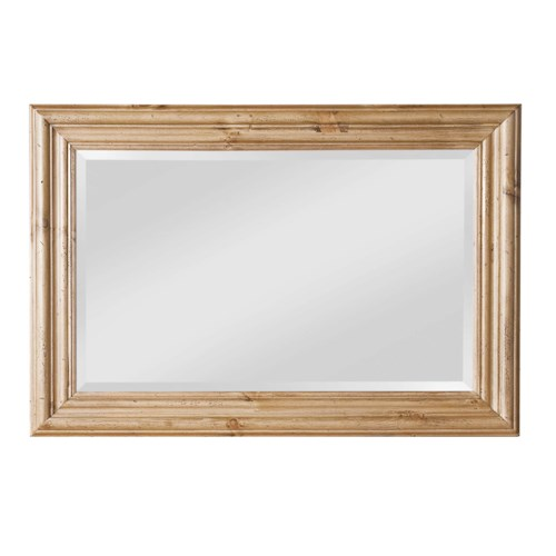 Kincaid Furniture Homecoming Pine Landscape Mirror with Beveled Glass