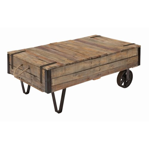 Kincaid Furniture Homecoming Industrial Cart Cocktail Table with Storage
