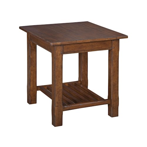 Kincaid Furniture Homecoming Camden End Table with One Shelf