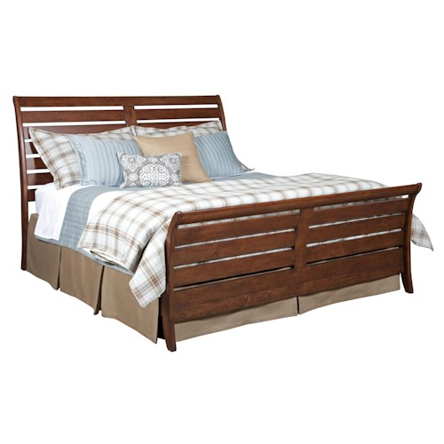 Kincaid Furniture Homecoming King Cumberland Sleigh Bed