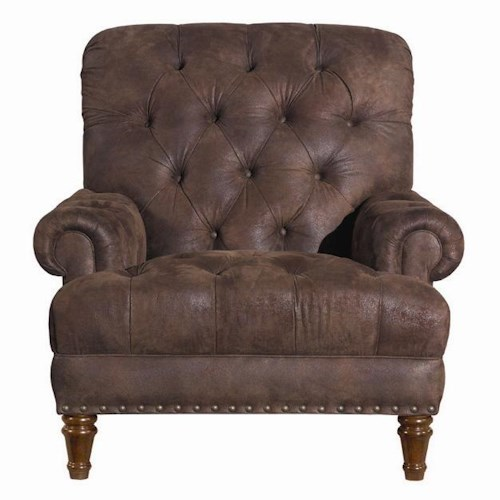 Kincaid Furniture Accent Chairs Tufted Accent Chair with Nailhead Trim
