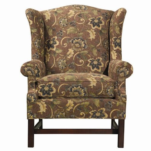 Kincaid Furniture Accent Chairs Upholstered Wing Accent Chair