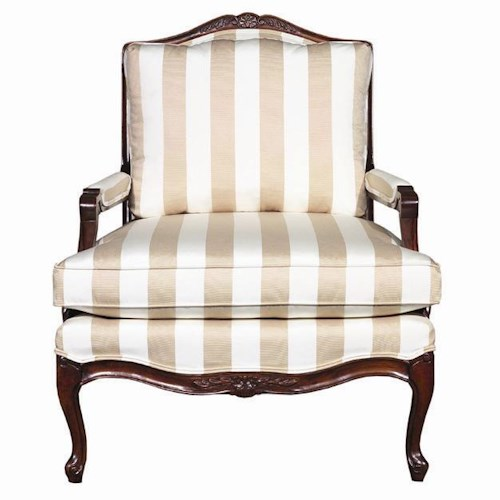 Kincaid Furniture Accent Chairs Exposed Wood Upholstered Accent Chair