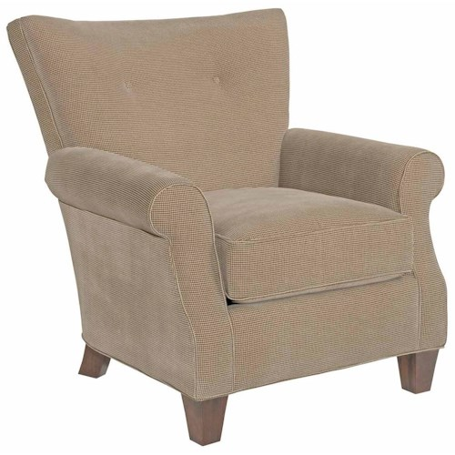Kincaid Furniture Accent Chairs Geneva Transitional Accent Chair with Button Tufting