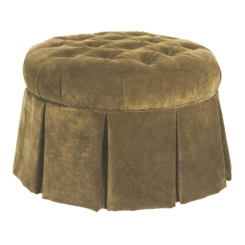 Kincaid Furniture Accent Chairs Round Skirted Ottoman