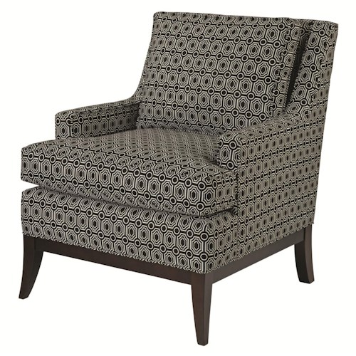 Kincaid Furniture Accent Chairs Park Avenue Chair with Exposed Wood Base and Track Arms