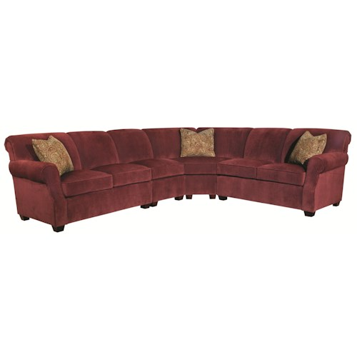 Kincaid Furniture Lynchburg Four Piece Sectional Sofa