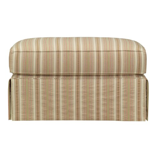 Kincaid Furniture Malibu  Skirted Ottoman