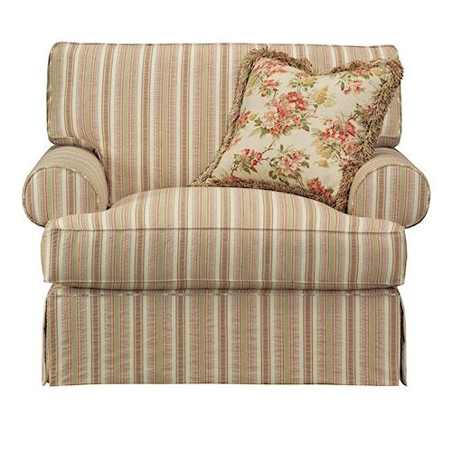 Kincaid Furniture Malibu  Oversized Skirted Chair