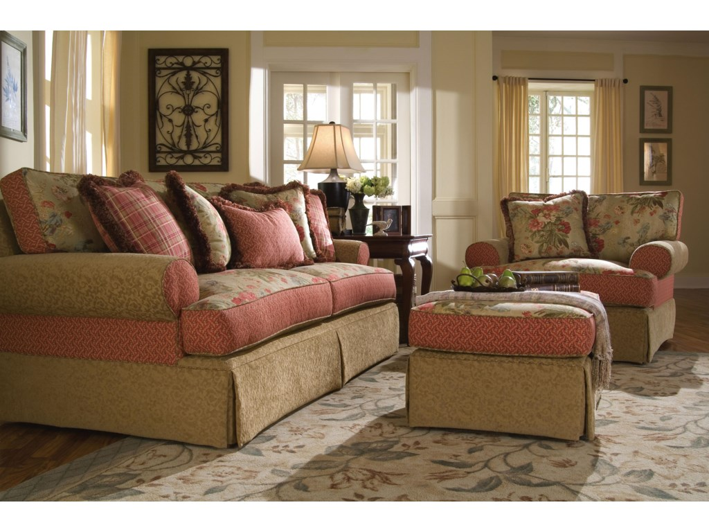 Shown with Coordinating Sofa and Ottoman