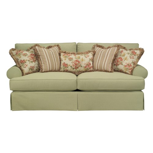 Kincaid Furniture Malibu  Skirted Stationary Sofa