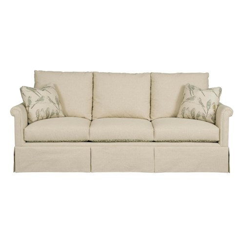 Kincaid Furniture Modern Select Customizable Grand Sofa with Rolled Panel Arms and Skirted Base
