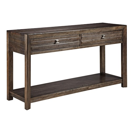 Kincaid Furniture Montreat Contemporary Montreat Sofa Table with Grooved Mouldings and Two Drawers