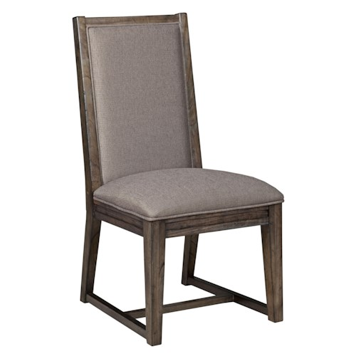 Kincaid Furniture Montreat Contemporary Upholstered Side Chair with Tapered Legs and Slat-Back Detail