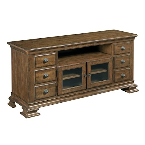 Kincaid Furniture Portolone Traditional Solid Wood Entertainment Console