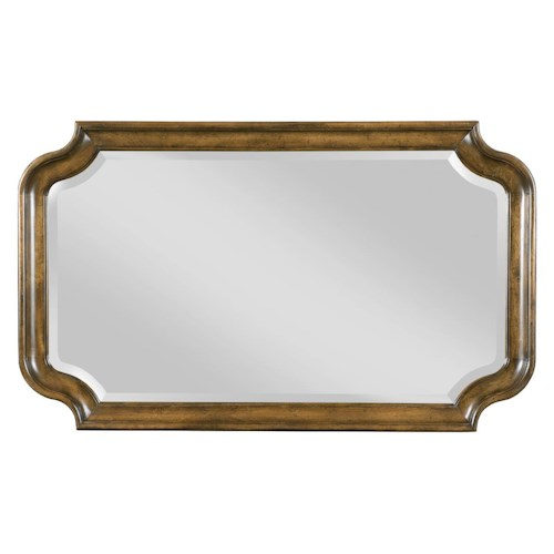 Kincaid Furniture Portolone Traditional Bureau Mirror with Scalloped Frame