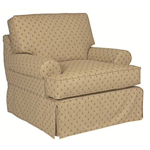 Kincaid Furniture Samantha Slipcover Chair with Rolled Arms