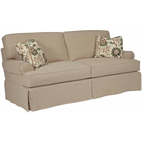 Kincaid Furniture Samantha Samantha Two Seat Sofa with Slipcover Tailoring & Loose Pillow Back