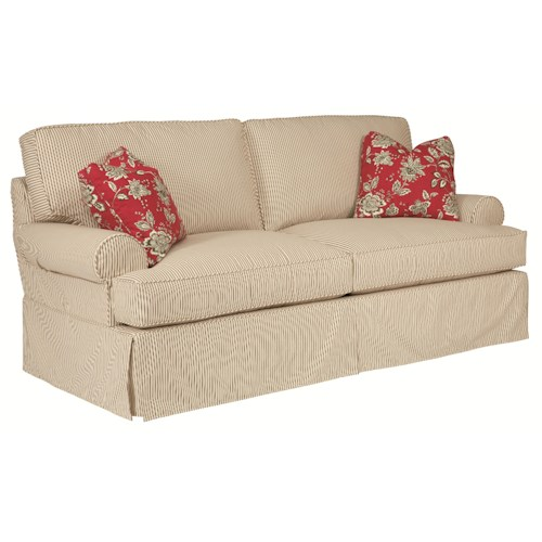 Kincaid Furniture Samantha Slipcover Queen Sleeper with Slipcover Tailoring & Loose Pillow Back