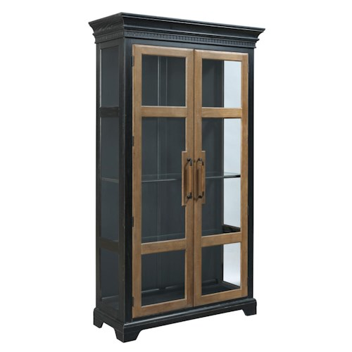 Kincaid Furniture Stone Ridge Transitional China Cabinet with Two Tone Finish and Touch Lighting