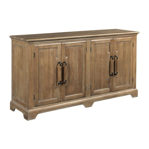 Kincaid Furniture Stone Ridge Transitional Door Buffet with Adjustable Dining Storage and Silverware Tray