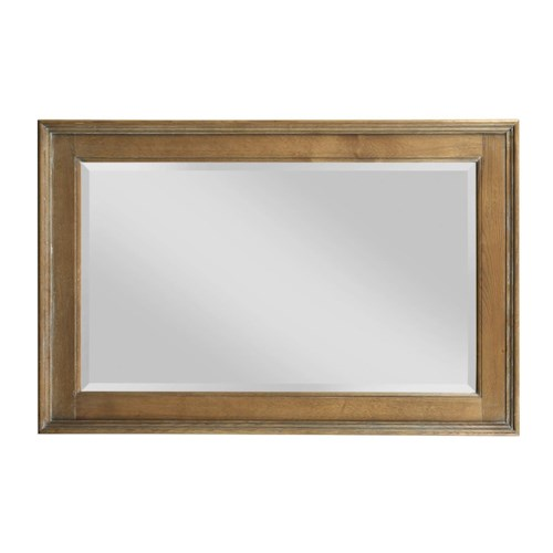 Kincaid Furniture Stone Ridge Traditional Landscape Mirror with Beveled Frame
