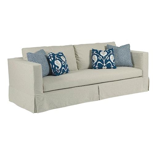 Kincaid Furniture Sydney Modern Slipcover Sofa with Kick Pleat Skirt