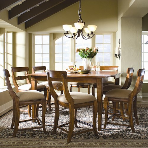 Kincaid Furniture Tuscano 9-Piece Pub Dining Set