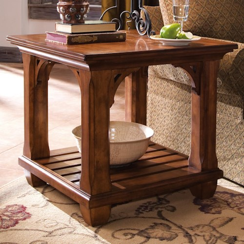 Morris Home Furnishings Tuscano Square Lamp Table