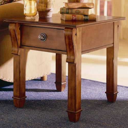 Morris Home Furnishings Tuscano Rectangular End Table With Drawer