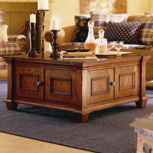 Morris Home Furnishings Tuscano Two Door Square Cocktail Table