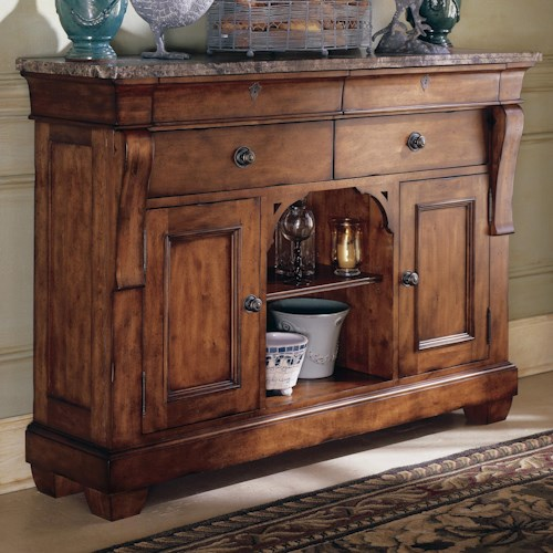 Morris Home Furnishings Tuscano Sideboard with Marble Top