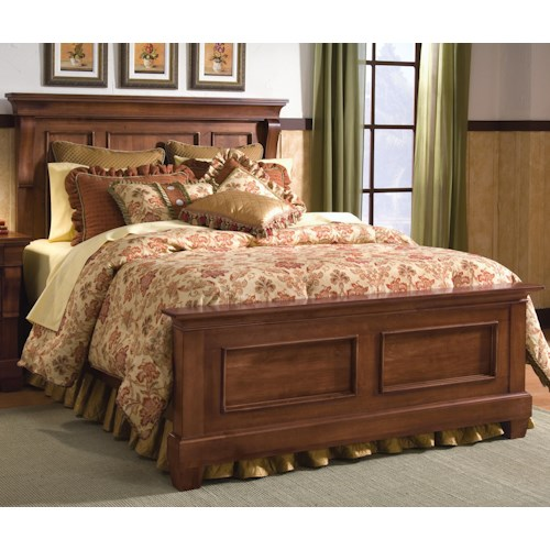 Kincaid Furniture Tuscano Queen Panel Headboard & Footboard Bed