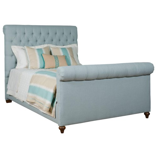 Kincaid Furniture Upholstered Beds King Belmar Upholstered Bed with Button-Tufted Headboard