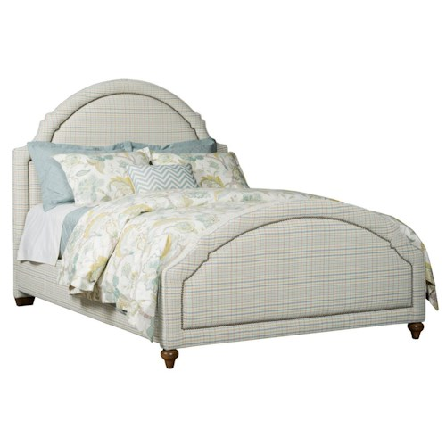 Kincaid Furniture Upholstered Beds King Ashbury Upholstered Bed with Nailhead Trim