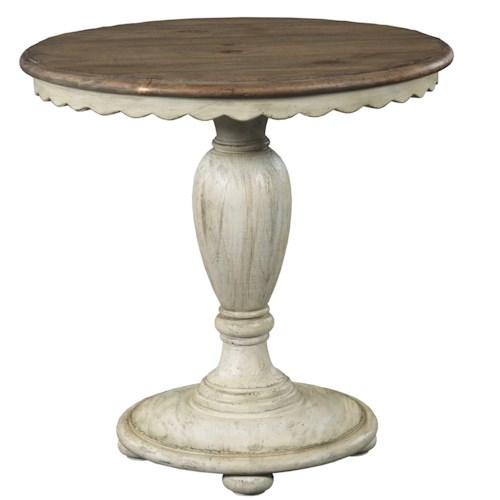 Kincaid Furniture Weatherford Round Accent Table with Scalloped Edges