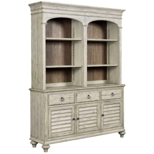 Kincaid Furniture Weatherford China Cabinet with 4 Shelves and 3 Drawers and 3 Doors