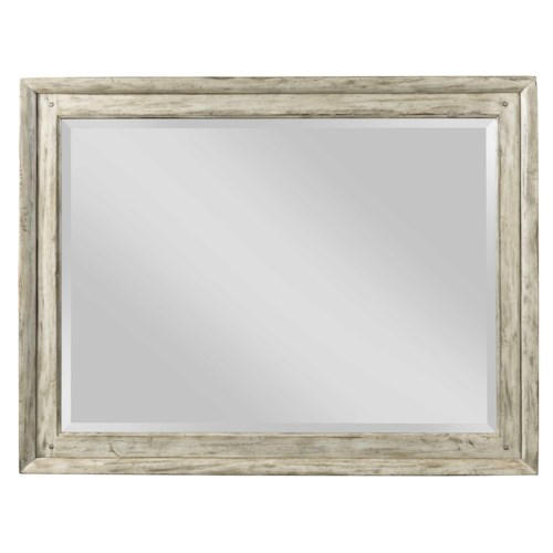 Kincaid Furniture Weatherford Landscape Mirror with Wooden Frame and Beveled Mirror