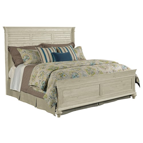 Kincaid Furniture Weatherford Shelter King Bed Package with Shutter-Style Headboard and Panel Footboard
