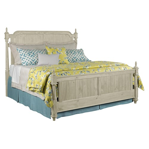 Kincaid Furniture Weatherford Westland King Bed Package with Bed Posts and Panel Footboard