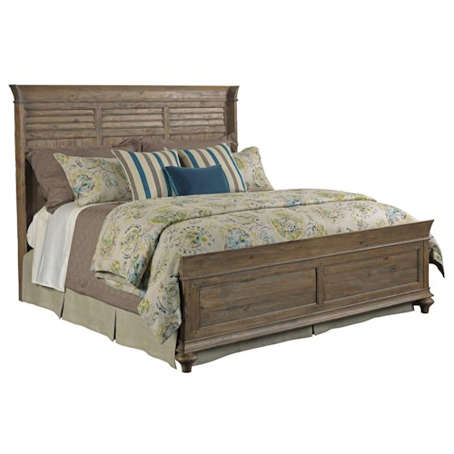 Kincaid Furniture Weatherford Shelter California King Bed Package with Shutter-Style Headboard and Panel Footboard