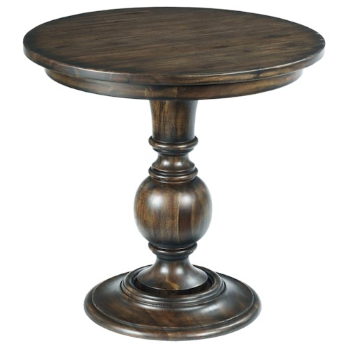 Kincaid Furniture Wildfire Vintage Round Lamp Table