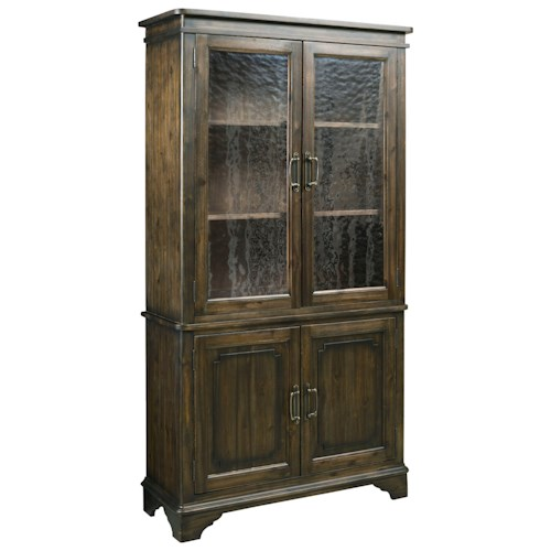 Kincaid Furniture Wildfire Vintage China Cabinet with Seeded Glass Doors and Touch Lighting