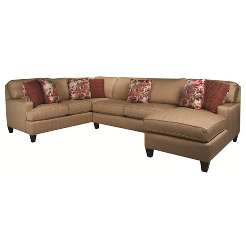 Morris Home Furnishings Emily 3-Piece Sectional