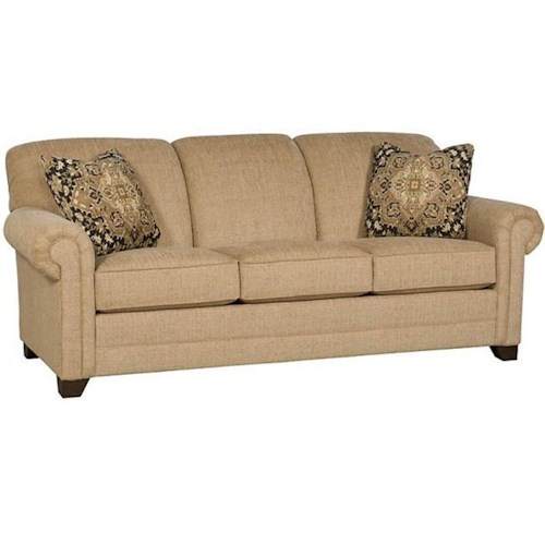 Morris Home Furnishings Angelina Sofa with Rolled Arms