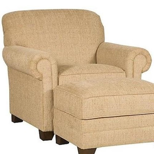 Morris Home Furnishings Angelina Chair with Rolled Arms