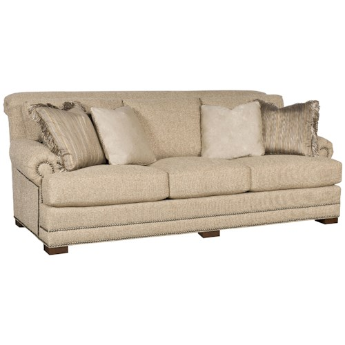 Morris Home Furnishings Barclay Stationary Sofa w/ Nailhead Trimming