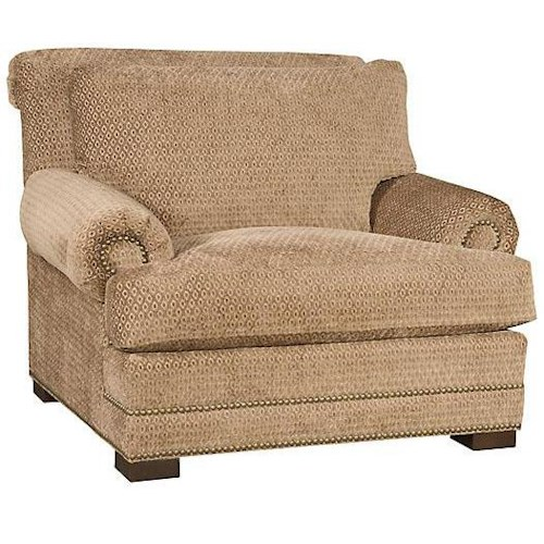 Morris Home Furnishings Barclay Upholstered Chair w/ Nailhead Trimming