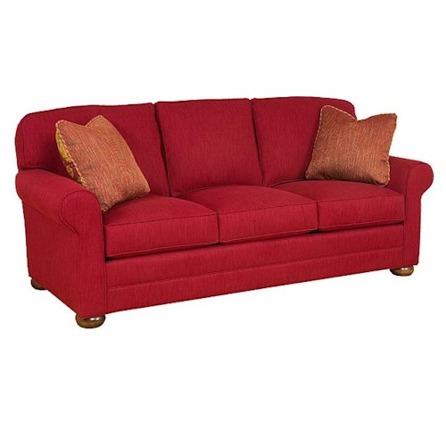 King Hickory Bentley Customizable 3-Seat Stationary Sofa